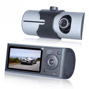 "Image 3 - Çift kameralı araç dvr R300 GPS ve 3D g sensor 2.7 ""TFT LCD X3000 kam video kamera döngü kayıt dijital Zoom"