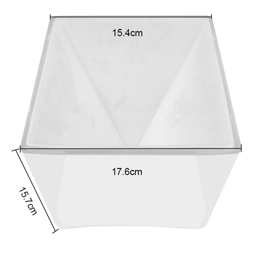 3d super pirâmide molde de silicone 15cm