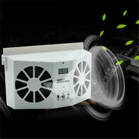 2 colors For Car Solar Powered Exhaust Fan Car Gills Cooler Auto Ventilation Fan Dual mode Power Supply High power