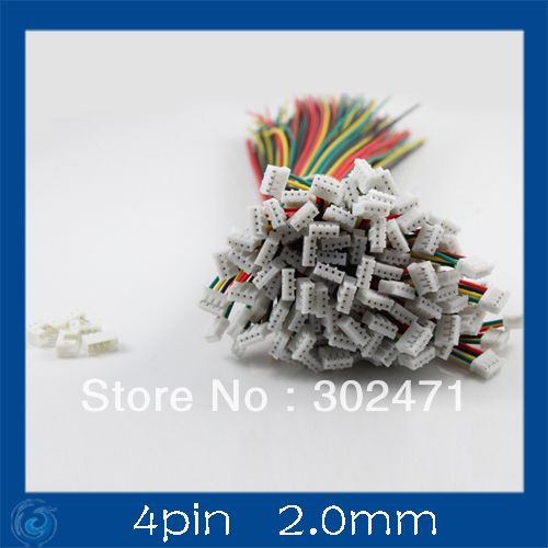 Mini. Micro  2.0mm T-1  4-Pin Connector W/.Wire X 10 Sets.4pin 2.0mm