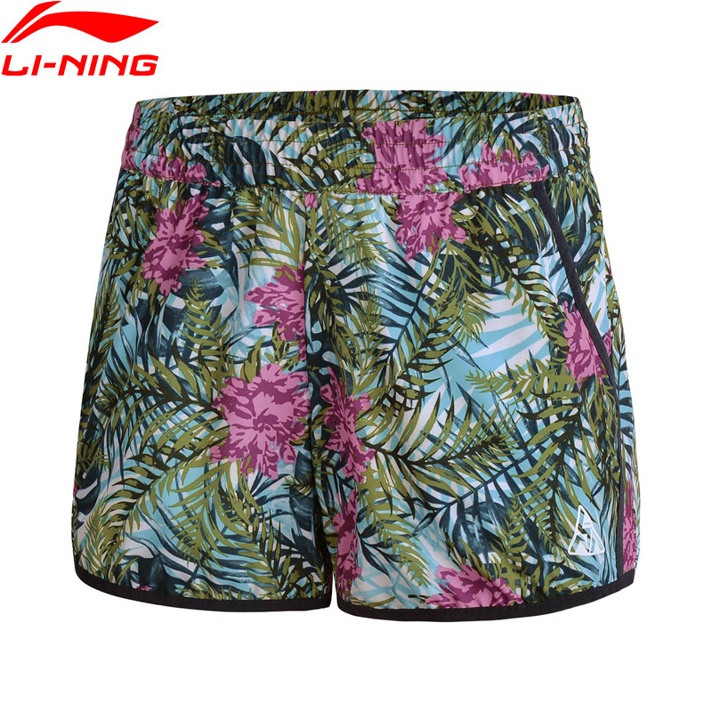 Li-Ning Women Outdoor Surfing Shorts Breathable 88.8% Polyester 11.2% Spandex LiNing Comfort Sport Shorts AKSN086 WKD575