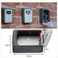 Storage Safe Money Box with 4 digit Code Aluminium Alloy Wall Mount Key Lock Box Key