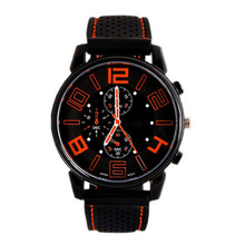 New Military Men Quartz Analog Watch Silicone Stainless Stra