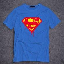 Superhero Superman T Shirts Mens Summer Cotton Shirts DC Comic Clothing Superman Cosplay T-shirt Men/Boy Fashion Tee Tops