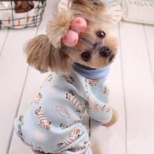 Новые мягкие и теплые пижамы для собак милый костюм для собак для йоркширских терьеров и чихуа-Хуа Одежда для собак и кошек
