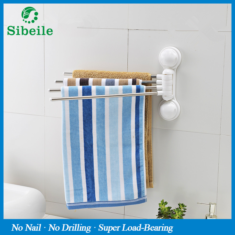 SBLE Stainless Steel Towel Bar Rotating Towel Rack Bathroom Kitchen ...
