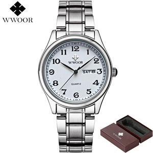 Image 4 - Relogio Masculino WWOOR Merk Kalender Heren Quartz Horloge Mannen Casual Sport Horloges Mannelijke Klok Luxe Rvs Polshorloge