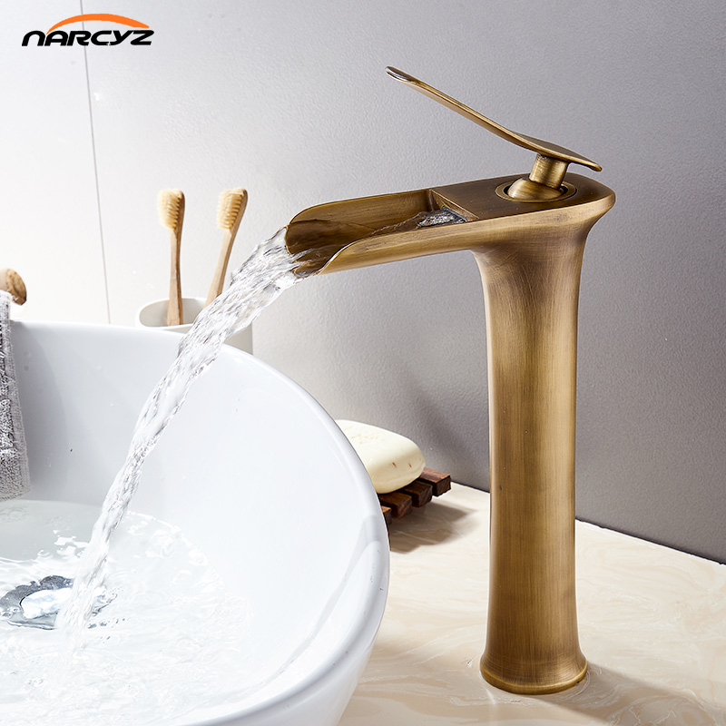 Basin Faucets Modern White Bathroom Faucet Waterfall faucets Single Hole Cold and Hot Water Tap Basin Faucet Mixer Taps  XR-A1 wall of the cold and hot water tap copper concealed washbasin single hole basin faucet stainless steel waterfall faucet lt 304 4