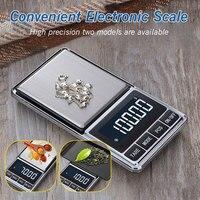100/500*0,01 г Мини цифровые весы карманные ювелирные изделия золотые серебряные весы точные электронные весы грамм Вес весы