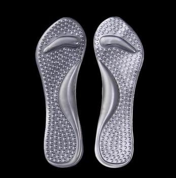 50 Pairs/lot Gel 3/4 Arch Support Insole Soft Anti-shock Massage Cushion Shoe Insert Foot Care