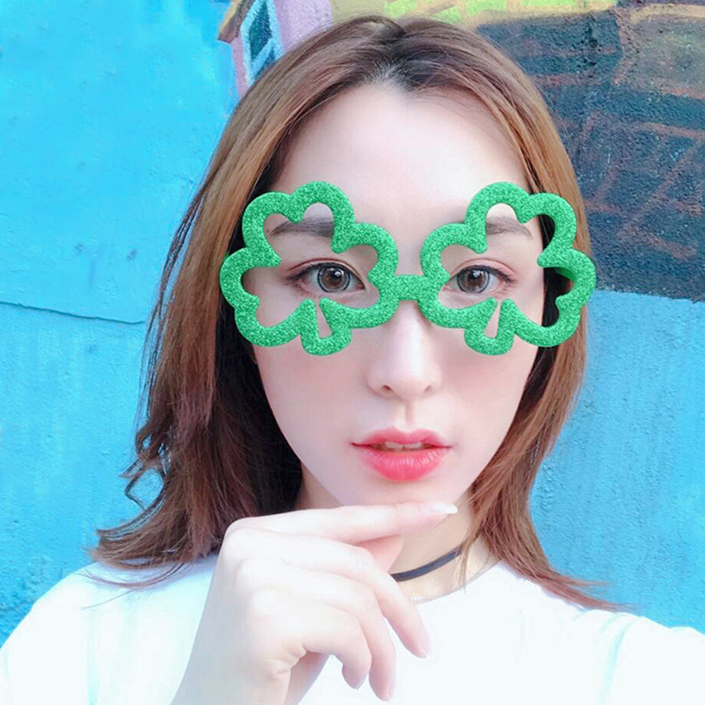 Funny Shamrock Design Sunglasses Creative Holiday Cosplay Costume Glasses Accessory For Fast Shipping Men's Eyewear Frames