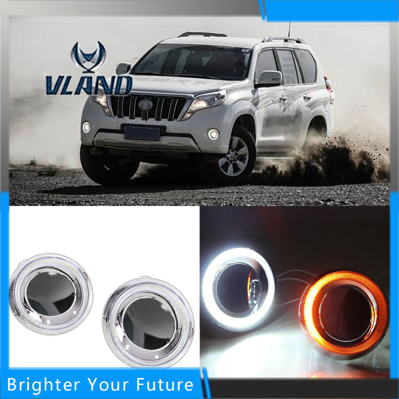 Daylight For Toyota Prado 2014-2015 White Daytime Running Lights DRL Front Fog Lamp daylight for toyota prado 2010 2013 white daytime running lights drl front fog lamp