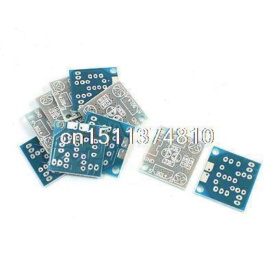 10Pcs 5mm LED Simple Flash Light Simple Circuit Kit PCB Bare Board 1set transistor multivibrator simple led flash flashing lights circuit kit parts module sensor