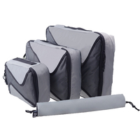 LACATTURA Brand 4PCS Set High Quality Oxford Cloth Travel Bag In Bag Luggage Organizer Packing Cube