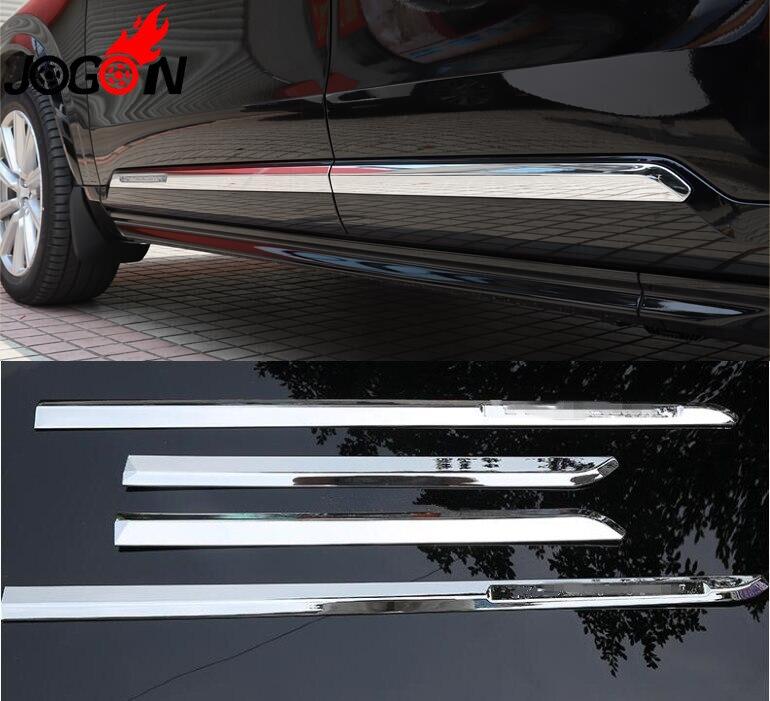 Acessórios 4 pcs ABS Cromo Moldagem Lado Do Corpo Porta XC90 Da Tampa trims Para Volvo 2016 2017 2018 2019 estilo Do Carro