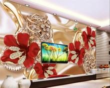 beibehang papel de parede rich jewelry flowers TV backdrop fashion suitable for indoor bedroom living room decorative wallpaper