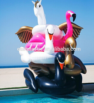PVC Giant Inflatable Golden Swan Rider Adult Size Inflatable Ride On Water  Toy Swimming Pool Water