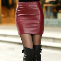 2017 New Autumn And Winter Fashion Casual Sexy Genuine Leather Plus Size Female Women Girls Skirts