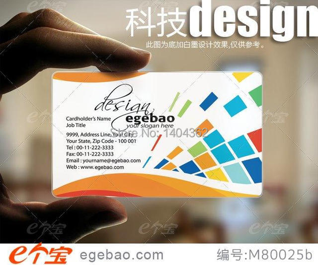 500 pcslot visit card name card business card printing transparent pvc business cards no - Name Card Printing