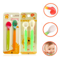2016 2pcs New Design Safety Cute Soft Silicone Baby Spoon Infant Feeding Spoon Baby Flatware Newborn Toddler Feeder  Supplies