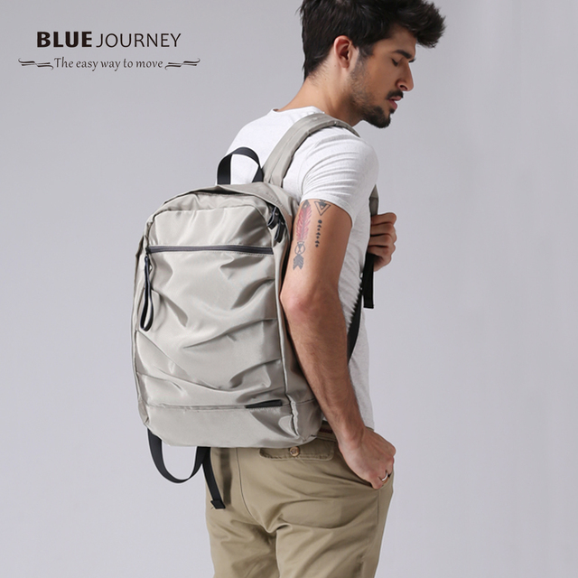 2017 Bluejourney Brand Cool Urban Backpack Men Light Slim Minimalist Fashion Women Backpack 14″- 15.6″ Laptop Backpack for girls