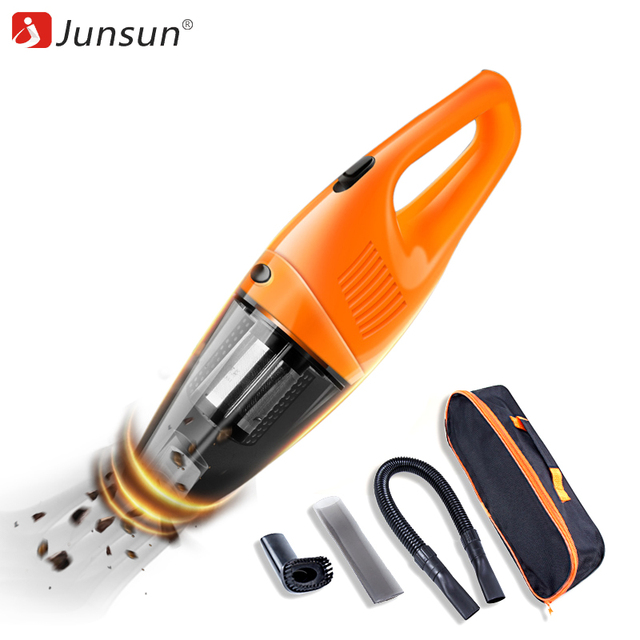 Junsun (бесплатная сумка) автомобильный пылесос 120 Вт Портативный беспроводной портативный пылесос влажный и сухой двойного использования в автомобиле и дома автомобильные аксессуары
