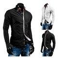 Весна мужские платье рубашки свободного покроя приталенный Fit длинная рукава социальной Camisa Masculina M-XXL