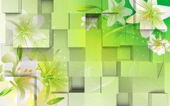 Personalizar Cortinas De Sala De Estar Foto Caja Simple De Flores 3d Estereoscópica Patrón Cortinas Opacas