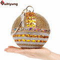 2017 New Women Handbags Small Totes Purse Bling Diamond Party Evening Bags Shoulder Bags Female Wedding Rhinestones Day Clutches