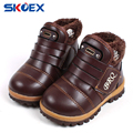 New Winter Children Boots PU Leather Waterproof Riding Boots Thick Warm Kids Snow Boots Girls Boys Booties Fashion Sneakers
