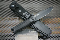 TRSKT GB 1500 Fixed Blade Knife 12C27 Steel Blade With K Sheath Hunting Knives Rescue Outdoor