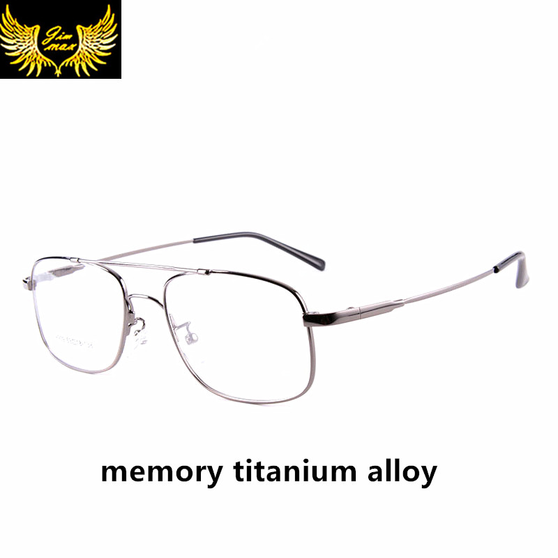 2016 Män Style Memory Titanium Alloy Full Rim Eye Glasses Mode Herr Dubbel Bridge Glasögon Klassisk optisk ram för män
