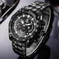 CAINO Luxus Top Marke Quarz Armbanduhr Männer Edelstahl Armband Wasserdichte Multifunktions Mode Business Sport Uhren Mann