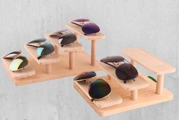 модные деревянные солнцезащитные очки дисплей стенд очки