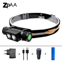 ZPAA XM L2 T6 USB Rechargeable LED Headlamp Waterproof Dimming Head Torch Flashlight 18650 Outdoor LED