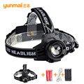Faróis led camping farol 2000 lumens xml t6 3 modos de led recarregável cabeça lanterna lampe frontale para camping caça