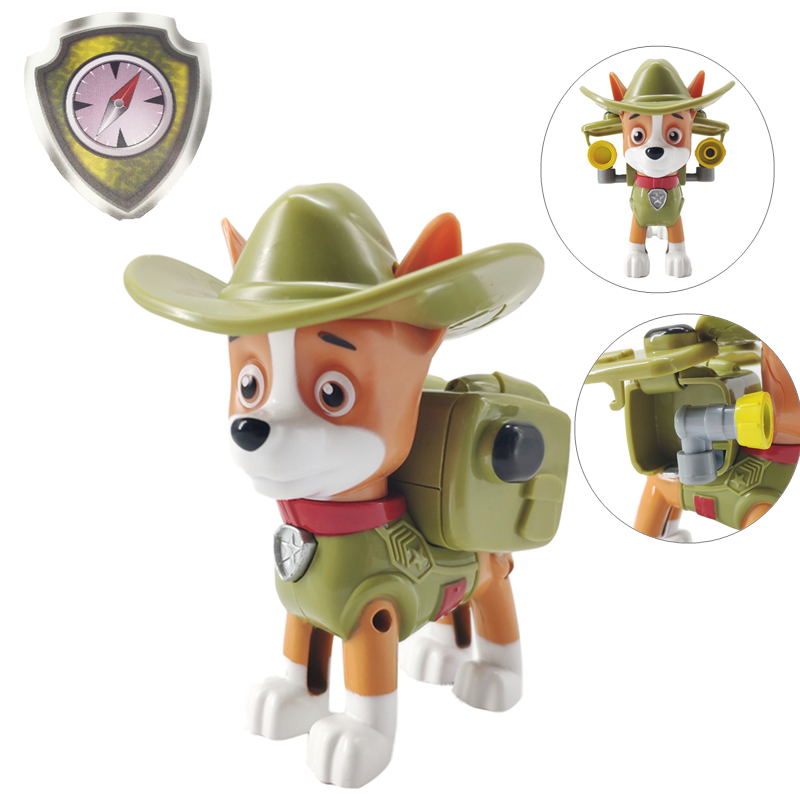 Paw Patrol Dog Tracker Puppy Patrol Figure Patrulla Canina Toys PVC Doll Action Figures Model Toy Kids Toys in Action Toy Figures from Toys Hobbies