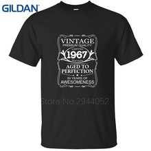 Camisetas hecho en 1967 nacido 50th cumpleaños presente regalo desig 4XL  ejército verde hombres Jersey algodón 19275d3acb7d4