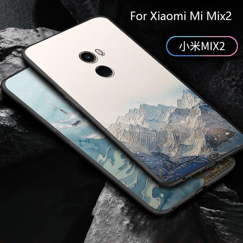 2018 Nouveau cas De Mode Pour xiaomi mi mi x2, 3D bande dessinée sur mesure peint la couverture de cas pour xiaomi mi mi x 2 custo mi zation