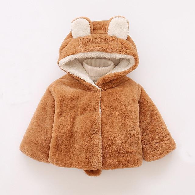 4b973e4b1d98 New Winter Baby Girls Boys Clothes Faux Fur Fleece Coat Pageant Warm ...