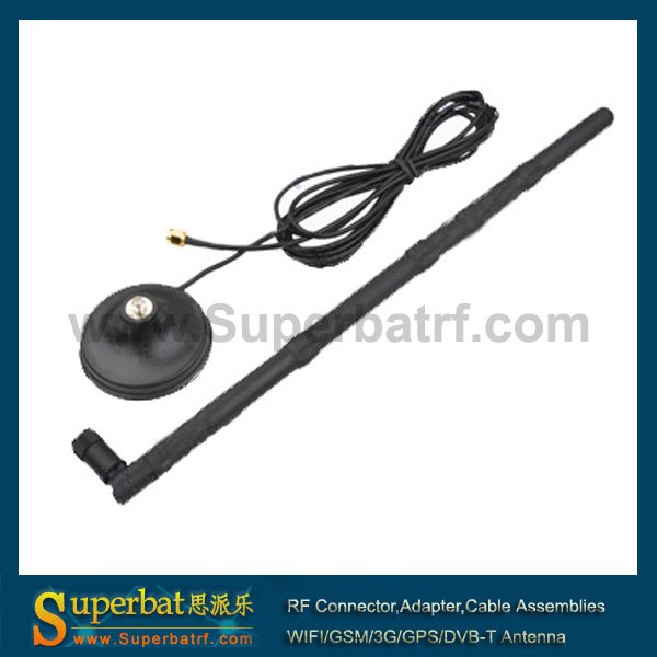 2.4GHz WiFi 9dbi Magnetic Mount RP-SMA Antenna for WIFI Booster