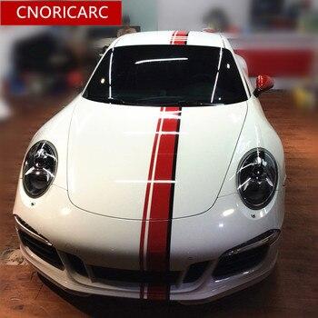 пользовательские автомобильные виниловые наклейки | CNORICARC капот автомобиля для задней двери, виниловые наклейки для крыши, гоночные линии, Стайлинг автомобиля, модифицированные индивидуальны...