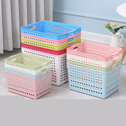 Plastic storage basket bathroom storage box snack storage finishing box basket rectangular wash basket storage basket desktop|Storage Boxes & Bins| |  - title=