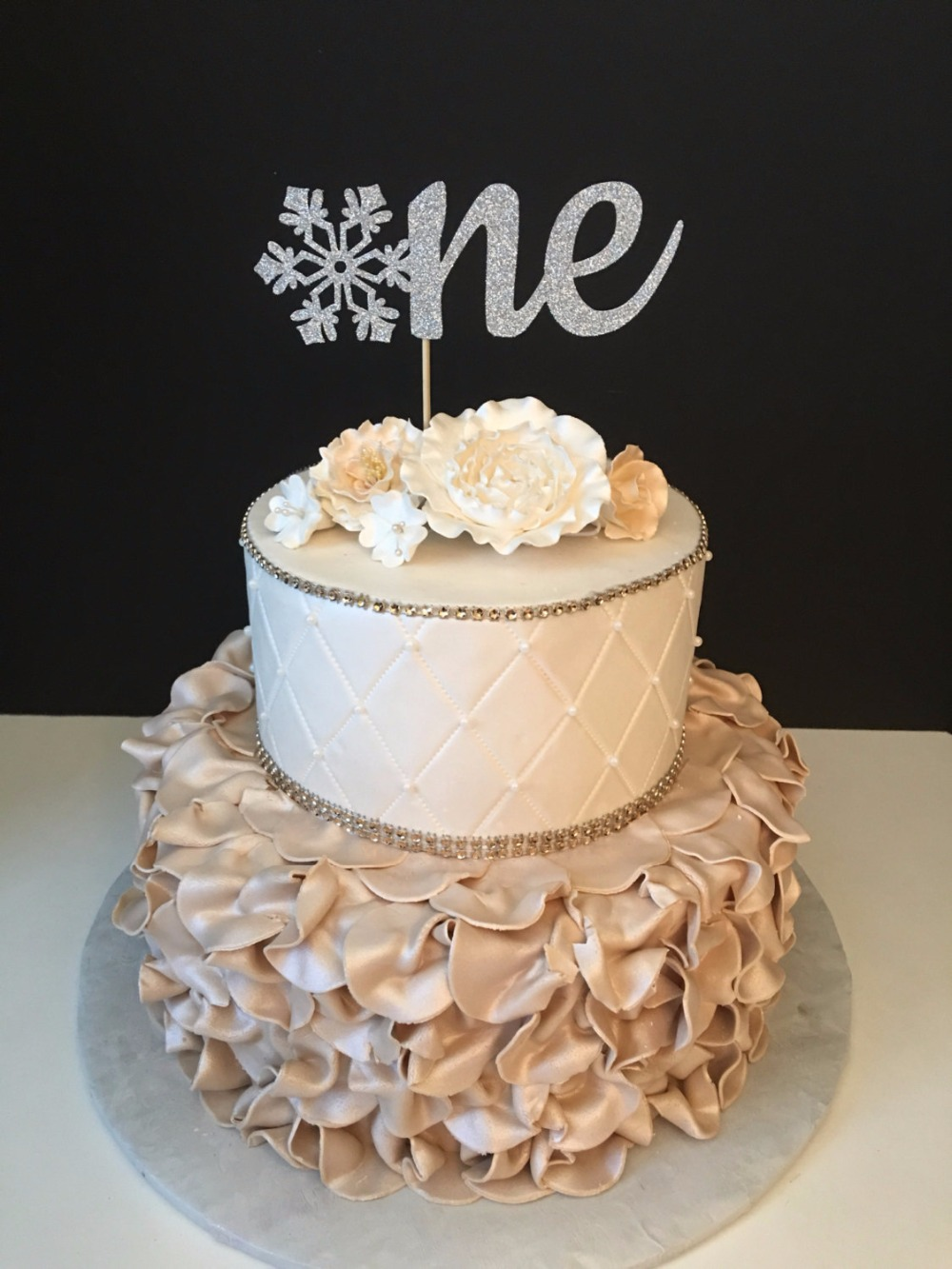 Miraculous One Winter Wonderland Glitter Birthday Cake Topper Winter Funny Birthday Cards Online Fluifree Goldxyz
