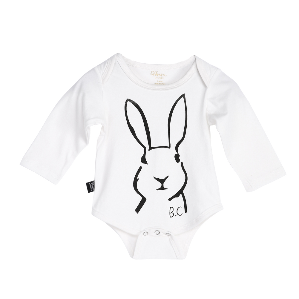 Cute Cartoon Animal Rabbit Baby Boy Girl Rompers Soft Cotton Bunny Long Sleeve Toddler Jumpsuit Infant Kids Clothes for 0-18M autumn winter baby girl rompers striped cute infant jumpsuit ropa long sleeve thicken cotton girl romper hat toddler clothes