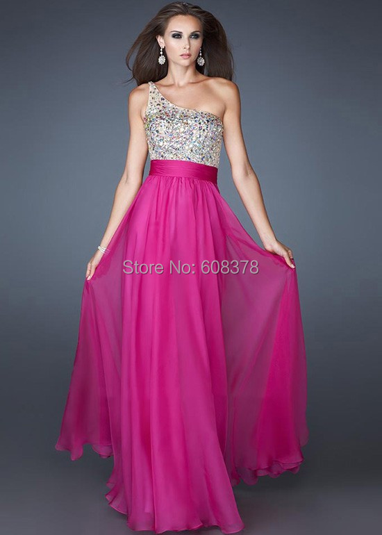 Free Shipping Long Multi Colors Pink Blue Fushcia 2017 Beaded Bridesmaid Dresses For Wedding Party Gown Dress Zm672 In From