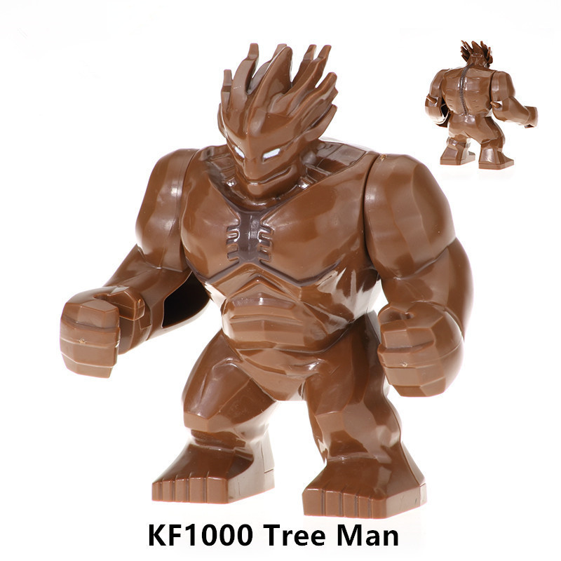 1Pc Tree Man Blocks Toys Building Block Bricks Figures Super Hero Hulk Buster Action Kids Educational Toys For Children Legoing