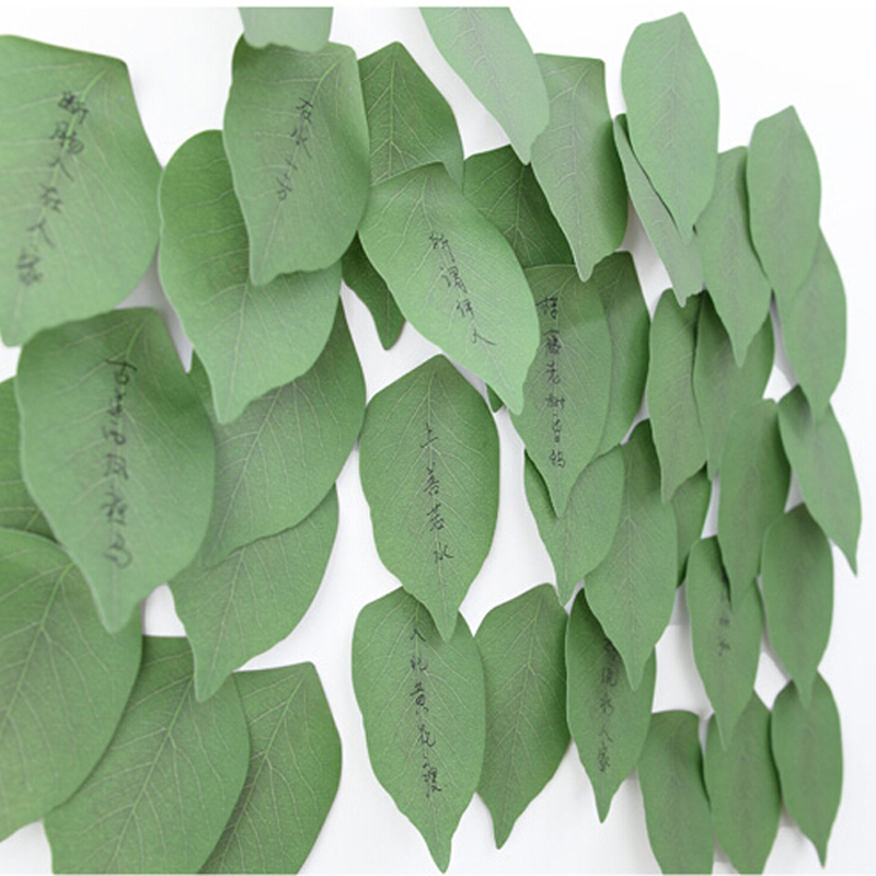 New 10 sets Cute Leaf Memo Pad Sticky Post Note Paper Sticker Pads Stationery Free shipping Office School Supplies