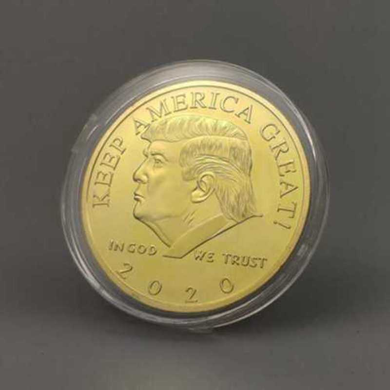 Donald J Trump 2020 Keep America Great Commander In Chief Coin Gold USA STOCK