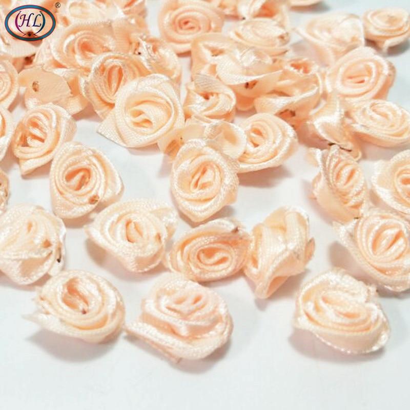 HL 100 piezas Cinta de durazno Rosa Flores Decoración de la boda - Para fiestas y celebraciones - foto 2